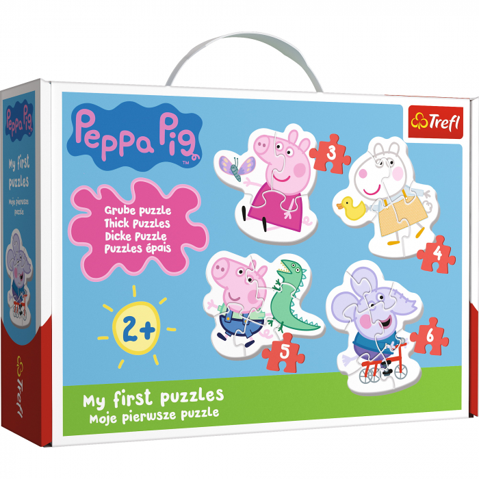 Puzzle Baby Clasic Simpatica Peppa Pig 18 Piese [0]