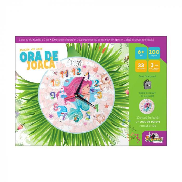 Puzzle Cu Ceas Noriel - Ora De Joaca, Sirena 1