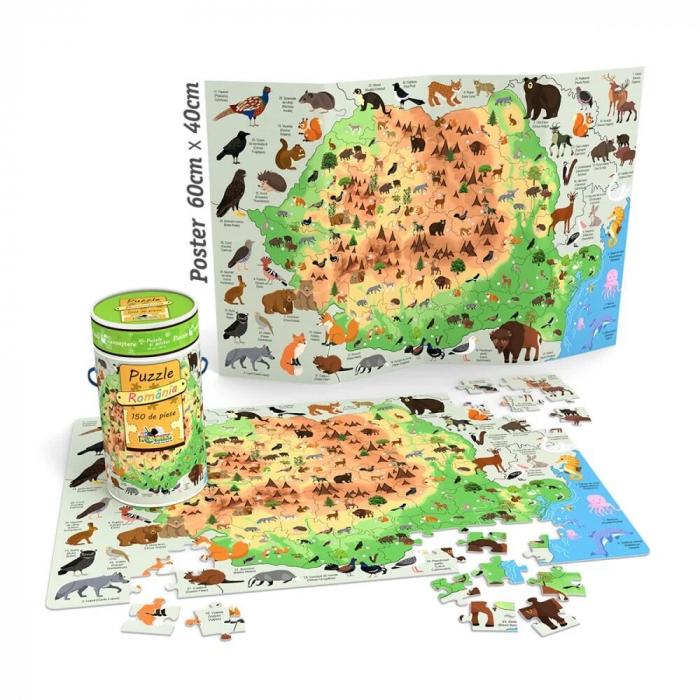 Puzzle Cunoastere - Harta Romaniei 150 Pcs [1]