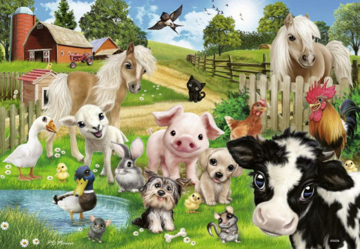 Puzzle ferma animalelor 2x24 piese [2]