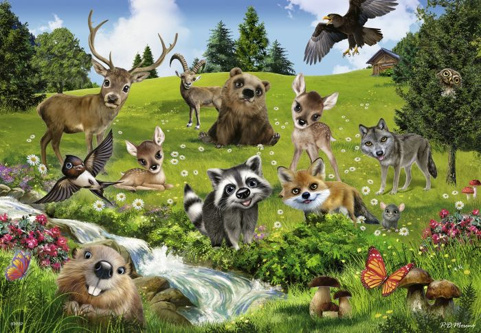 Puzzle ferma animalelor 2x24 piese [1]