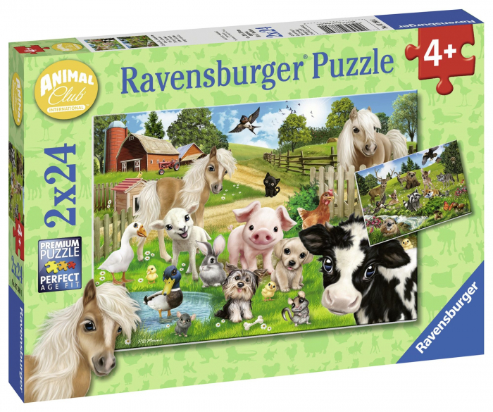 Puzzle ferma animalelor 2x24 piese [0]