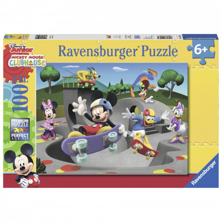 Puzzle Mickey cu skateboard, 100 piese, Ravensburger 0