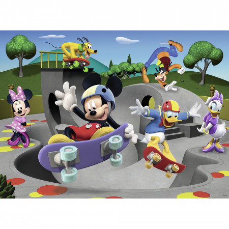 Puzzle Mickey cu skateboard, 100 piese, Ravensburger 1