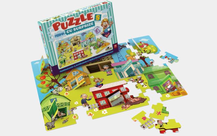 Puzzle Noriel - Ferma Cu Surprize, 36 Piese 1