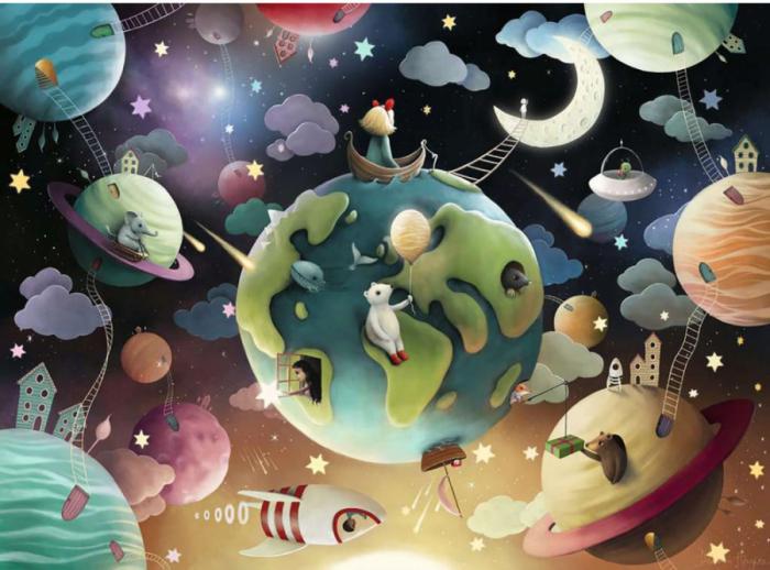 Puzzle Planete, 100 Piese [1]
