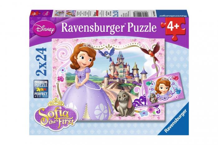 Puzzle Printesa Sofia - Ravensburger-2x24 Piese 0