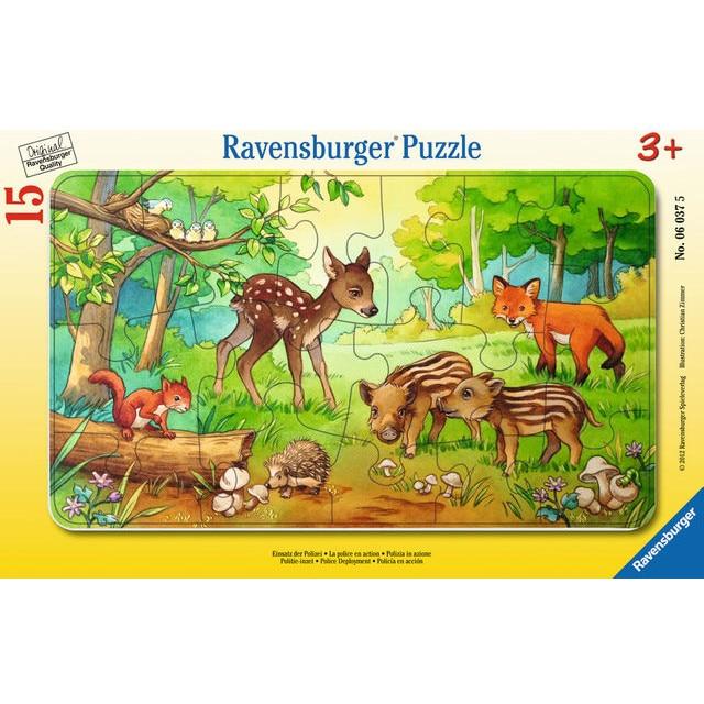Puzzle puiut de animale in padure, 15 piese 0