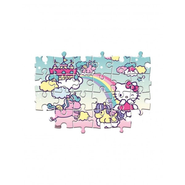 Puzzle Super Color Hello Kitty, 2x20 Piese [2]