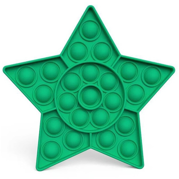 Jucarie Pop It Now & Flip It, Push Bubble Stea verde 0