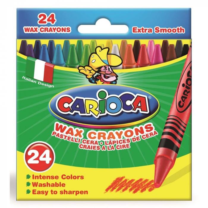 Set 24 Creioane Colorate Cerate Lavabile- Carioca [0]