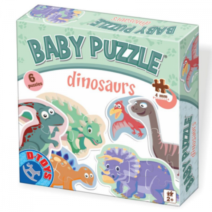 Set 6 puzzle-uri Baby Puzzle Dinozauri. [0]