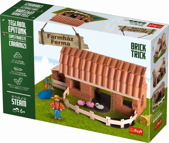 Set Constructie Brick Trick Ferma Mare Din Caramidute Ceramice [1]