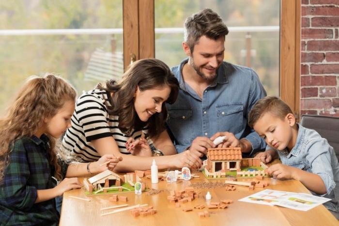 Set Constructie Brick Trick Ferma Mare Din Caramidute Ceramice [4]