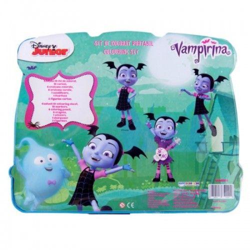 Pachet Vampirina- Masa cu accesorii de colorat + set de colorat portabil 4