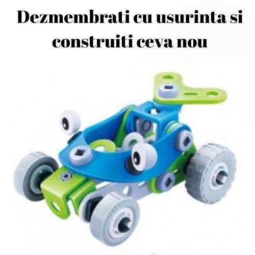 Set de constructie 2 in 1 Atv si tricicleta, 52 piese [4]