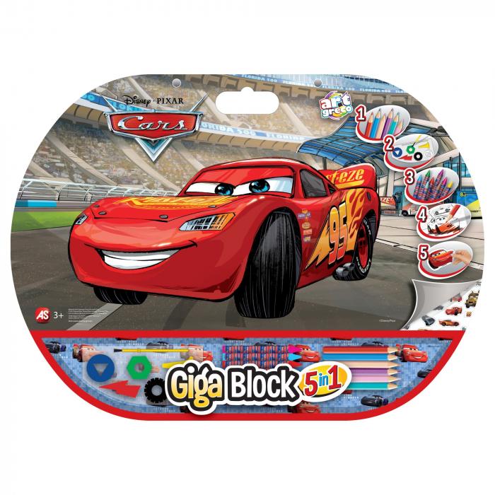 Set Pentru Desen 5 in1 Gigablock Cars 0
