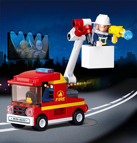 Set De Constructie Sluban– Mini Masina De Interventie Cu Scara 1