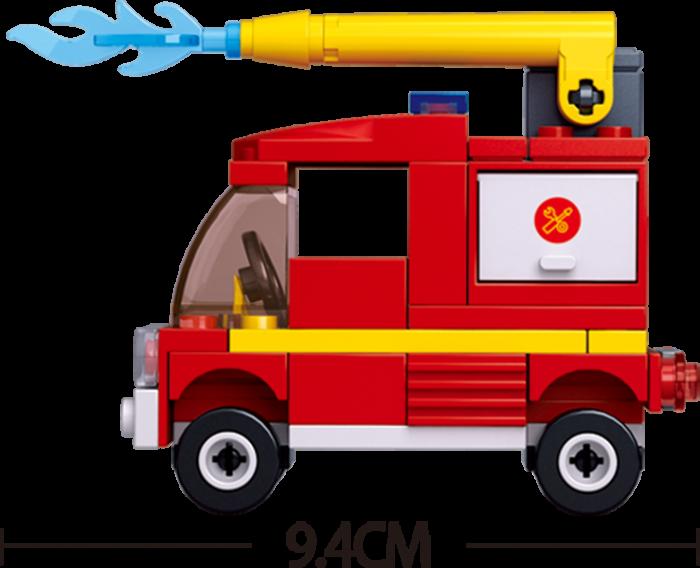 Set De Constructie Sluban - Mini Camion De Interventie 2