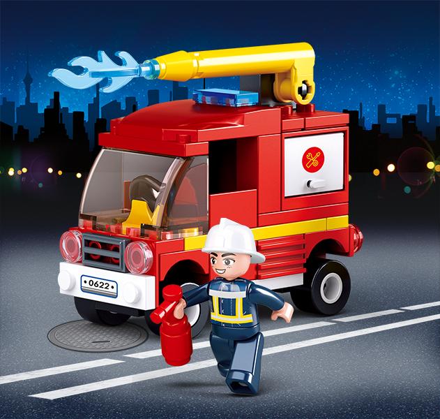 Set De Constructie Sluban - Mini Camion De Interventie 1