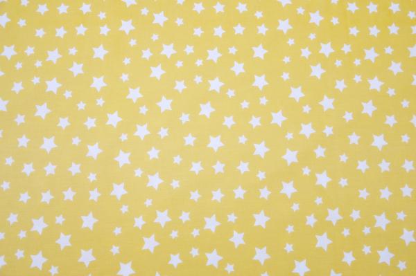 Baby Nest 0-6 luni cu gri uni și galben cu stele+protectie [2]