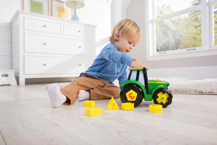 Tractoraș Cu Forme Și Cifre - John Deere 0