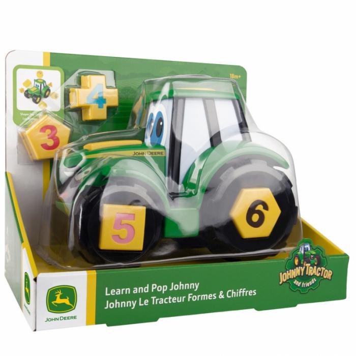 Tractoraș Cu Forme Și Cifre - John Deere 3