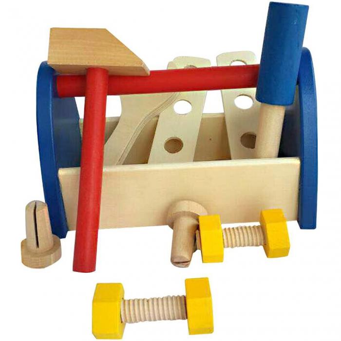 Trusa scule constructie din lemn pentru copii [2]