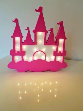 Decoratiune Castel cu lumina0
