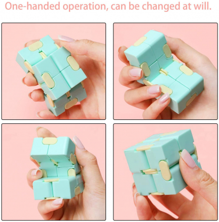 Infinity Magic Cube- Roz/ Albastru [3]