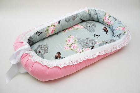 Baby Nest 0-6 luni: Delux cu colivii + protecție [0]