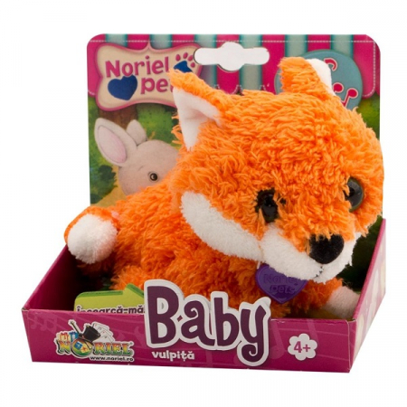 Baby Vulpita - Jucarie De Plus Interactiva Noriel Pets