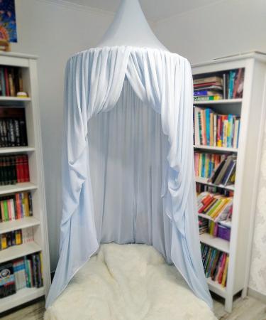 Baldachin de tavan bleu cu buline mărunte, diametru 75 cm [1]