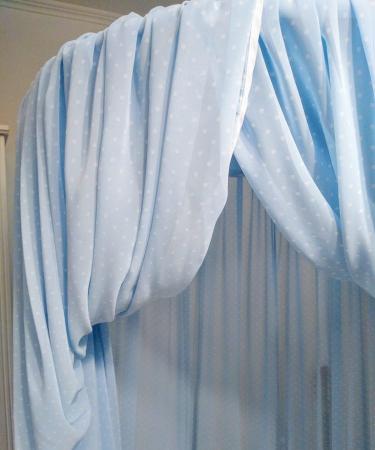 Baldachin de tavan bleu cu buline mărunte, diametru 75 cm [2]