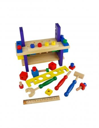 Banc de lucru din lemn pentru copii3