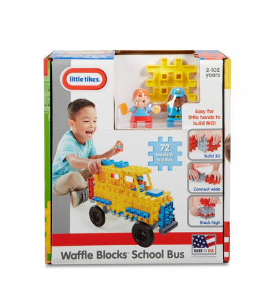 Set constructie Autobuz scolar 72 piese0