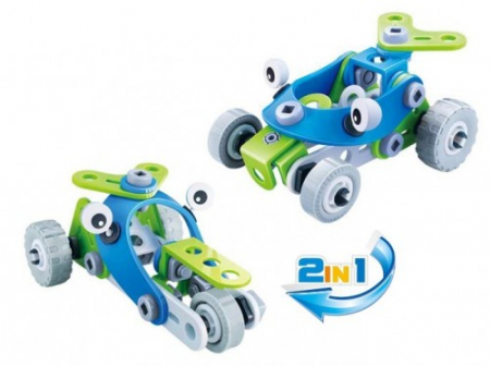 Set de constructie 2 in 1 Atv si tricicleta, 52 piese1