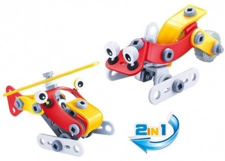Set de constructie 2 in 1 Elicopter / Snowmobil, 57 piese [2]