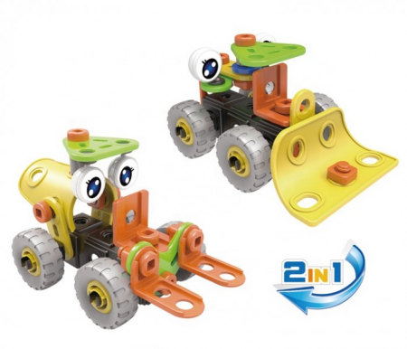Set de constructie 2 in 1 buldozer si stivuitor, 46 piese1