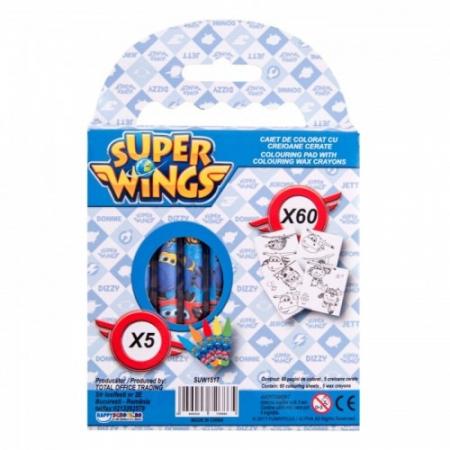Caiet De Colorat Cu Creioane Cerate SUPER WINGS [2]