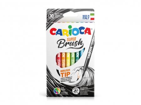 Carioci cu varf de pensula, Carioca Super Brush 10 buc / cutie [0]