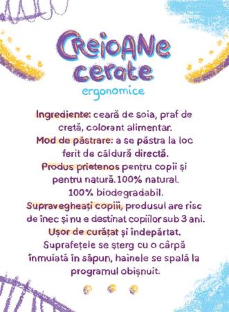 Ceriline - creioane cerate ergonomice, pachet 10 culori3