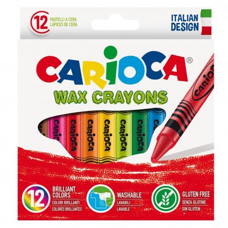 Creioane cerate 12 buc / set - Carioca [0]