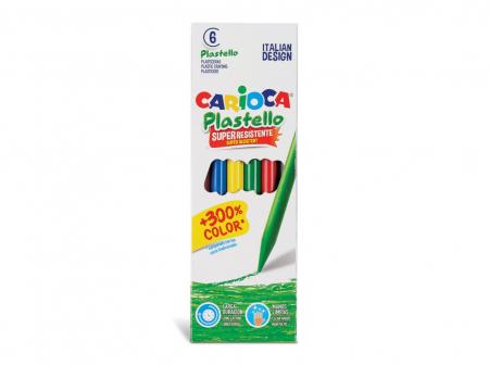 Creioane plastifiate Carioca Plastello set 6 buc [0]