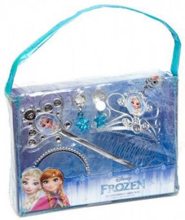 Gentuta Frozen cu 4 accesorii diadema bagheta cercei bratara0