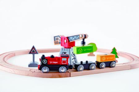 Hape Tren livrare marfa [4]