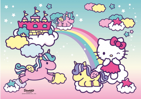 Puzzle Super Color Hello Kitty, 2x20 Piese [3]