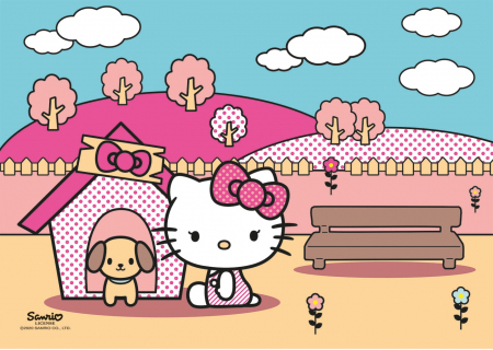 Puzzle Super Color Hello Kitty, 2x20 Piese [1]