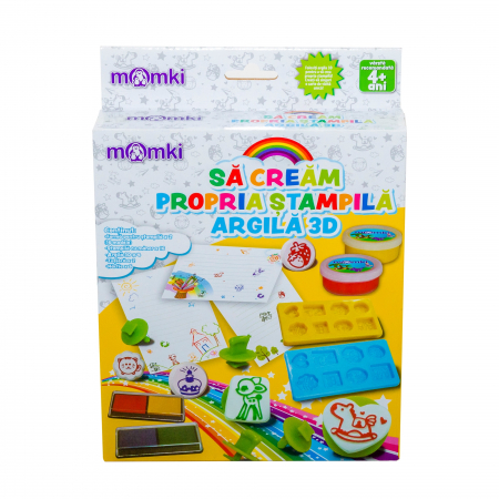 Joc Creativ - Sa Cream Propria Stampila Din Argila 3D, Momki [0]