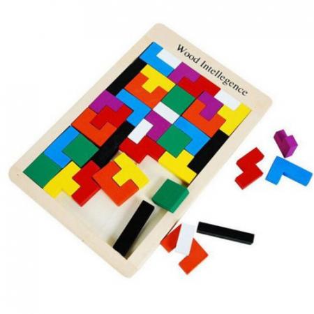 Joc logic Tetris din lemn.0
